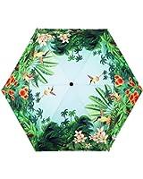 Estwell Travel Compact Art Umbrella Foldable Windproof UV Protection Sun Rain Umbrella for Women