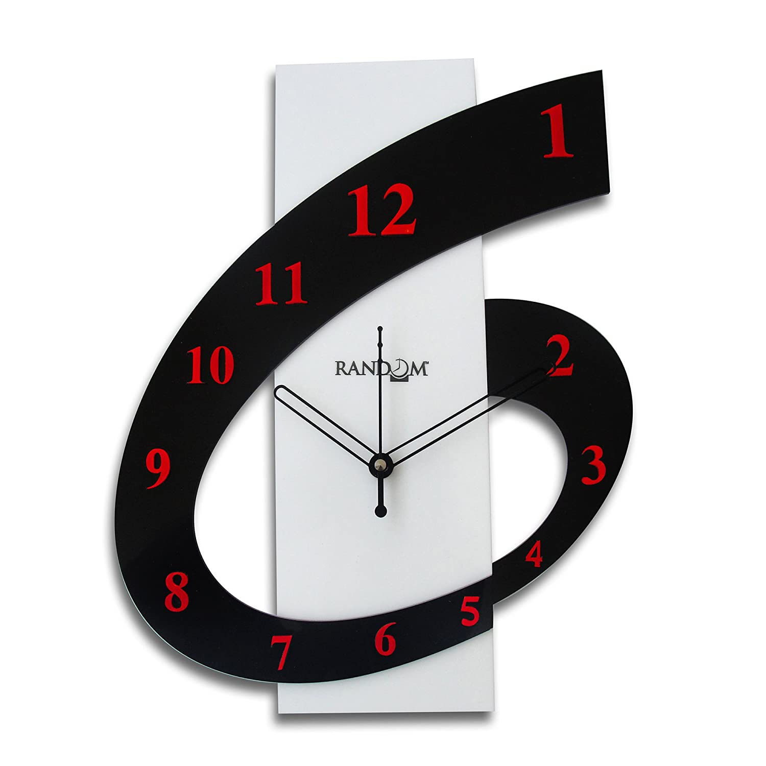 Random Clocks Rectangle High Grade Polymer Wall Clock (30 cm