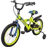 Cyfie 鷹さん 子供用自転車 泥除け付き 補助輪付き 滑り止めハンドル付き 簡単に安装 幅が広いタイヤ 安全 丈夫 全3サイズ (16インチ)