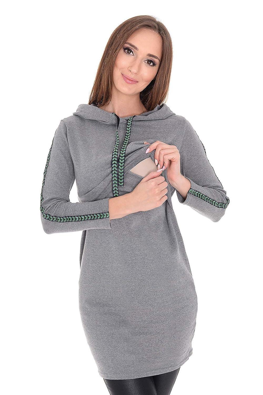 MijaCulture 3 in1 Elegant Stillpullover /& Umstandspullover Sweatshirt Melanie 7136