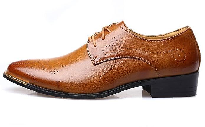 Haferlschuh Herren Trachtenschuhe Brogue Schnürhalbschuhe Derby Schuhe Braun 40 EU EUVV8DQE