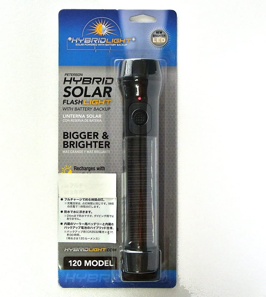 This is an image of a flashlight inside its transparent packaging.