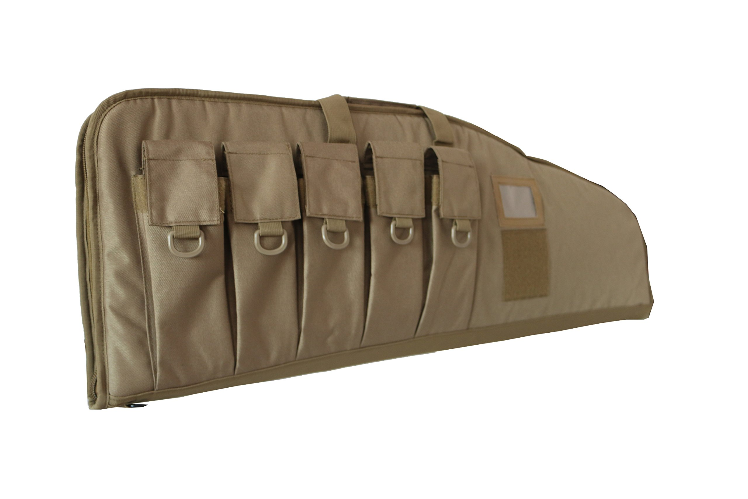 ARMYCAMOUSA Rifle Bag Outdoor Tactical Carbine Cases Water dust Resistant Long Gun Case Bag with Five Magazine Pouches for Hunting Shooting Range Sports Storage and Transport (42'' Tan) by ARMYCAMOUSA