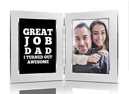Amazon.com - Great Job Dad I Turned Out Awesome 4x6 Funny Picture ...