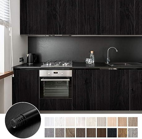 KINLO Pegatina de Mueble de Madera Ropa 0,61 * 5M Autoadhesivo Papel Pintado Impermeable para Muebles/Cocina/Baño Color (1 Rollo, Madera 3): Amazon.es: Hogar