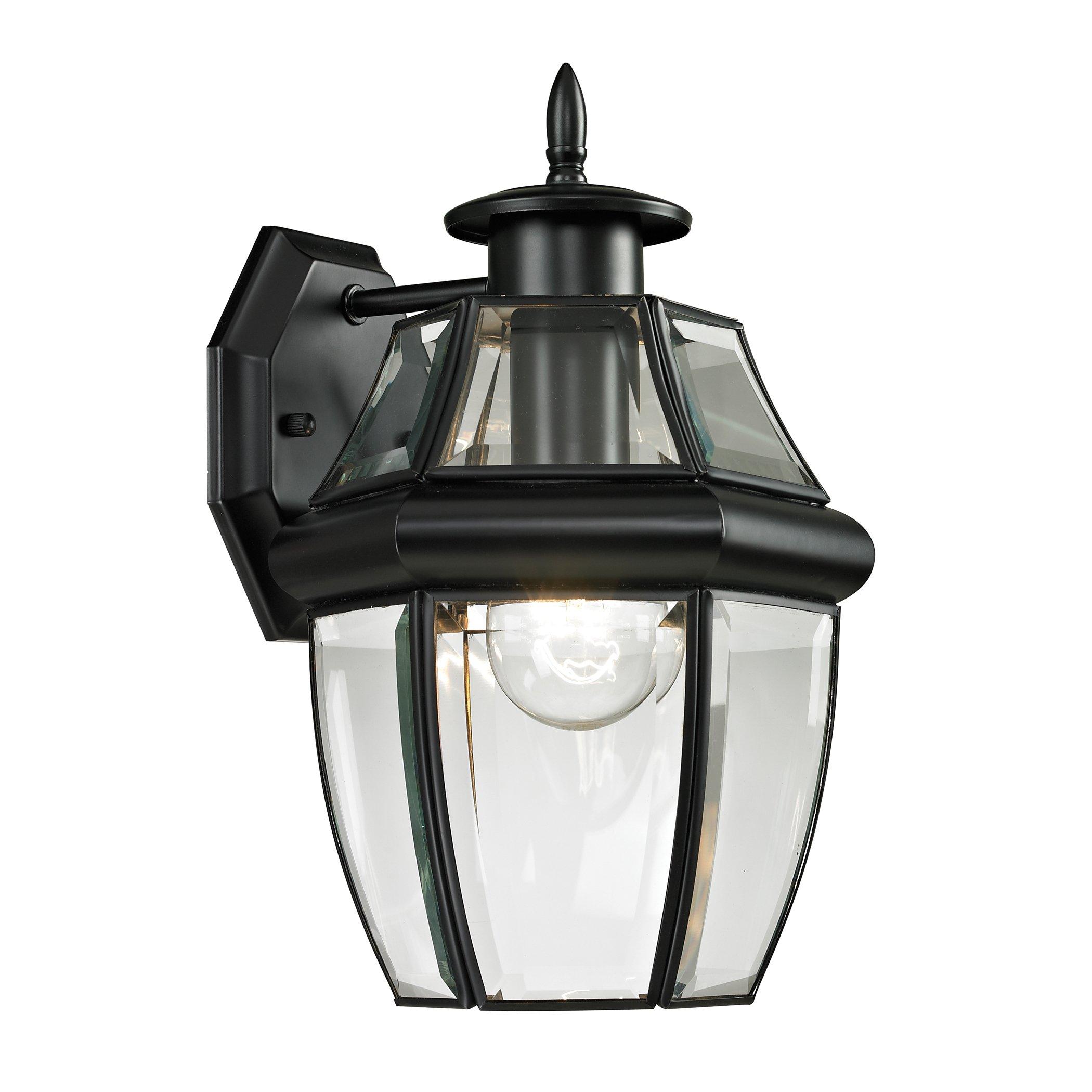 Cornerstone Lighting 8601EW/60 Ashford 1 Light Exterior Coach Lantern, Black