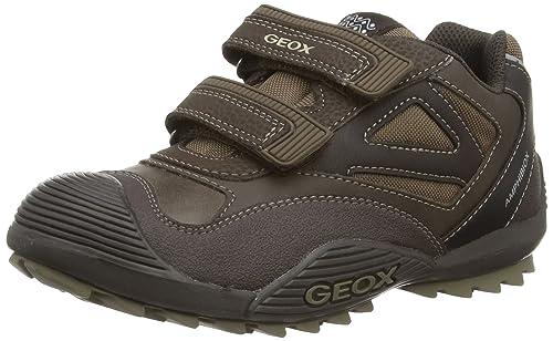 Geox Jr Savage B Abx - Zapatillas de deporte para niño, COFFEE/BEIGE, 25: Amazon.es: Zapatos y complementos
