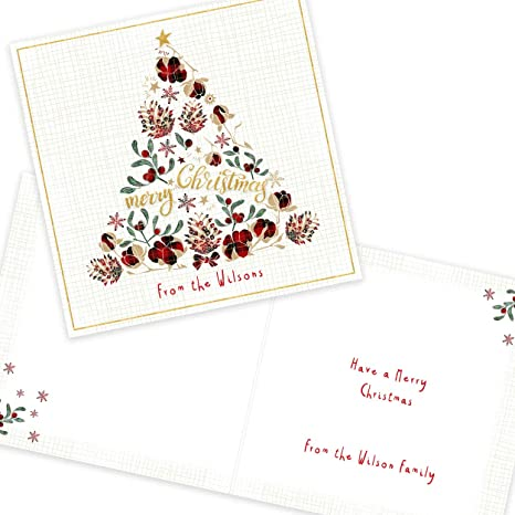 LONDON CHRISTMAS -MUM HANDMADE PERSONALISED CHRISTMAS CARD SON,DAUGHTER DAD