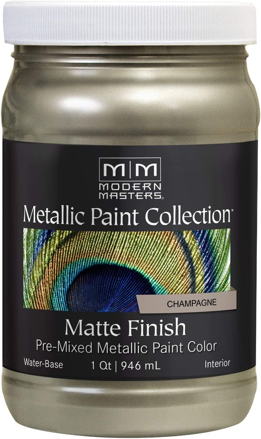 Modern Masters MM206 Matte Metallic Paint, Champagne, Quart