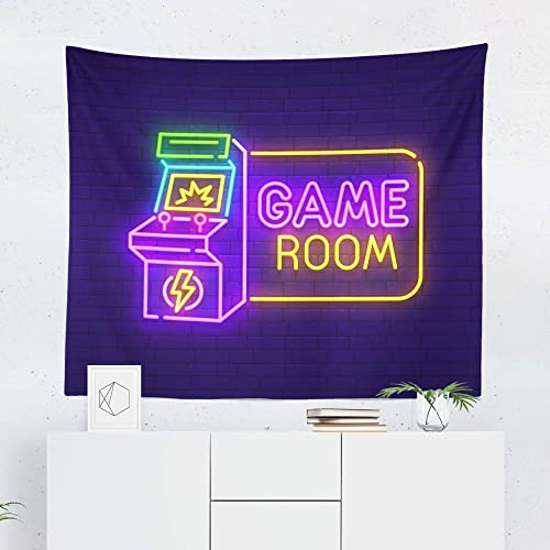 Gaming Tapestry Wall Hanging Gamer Video Game Nerdy Game Tapestries Dorm Room Bedroom Decor Art – Printed in the USA – Small to Giant Sizes