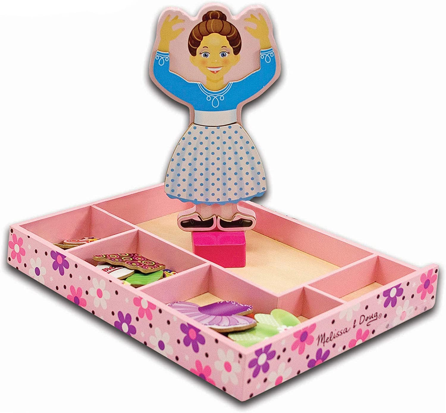 B000IEBY3A Melissa & Doug Nina Ballerina Magnetic Dress-Up Set (Pretend Play, 6 Outfits, Encourages Creativity, 27 Magnetic Pieces, Great Gift for Girls and Boys - Best for 3, 4, 5, and 6 Year Olds) 71KaWrdY2tL