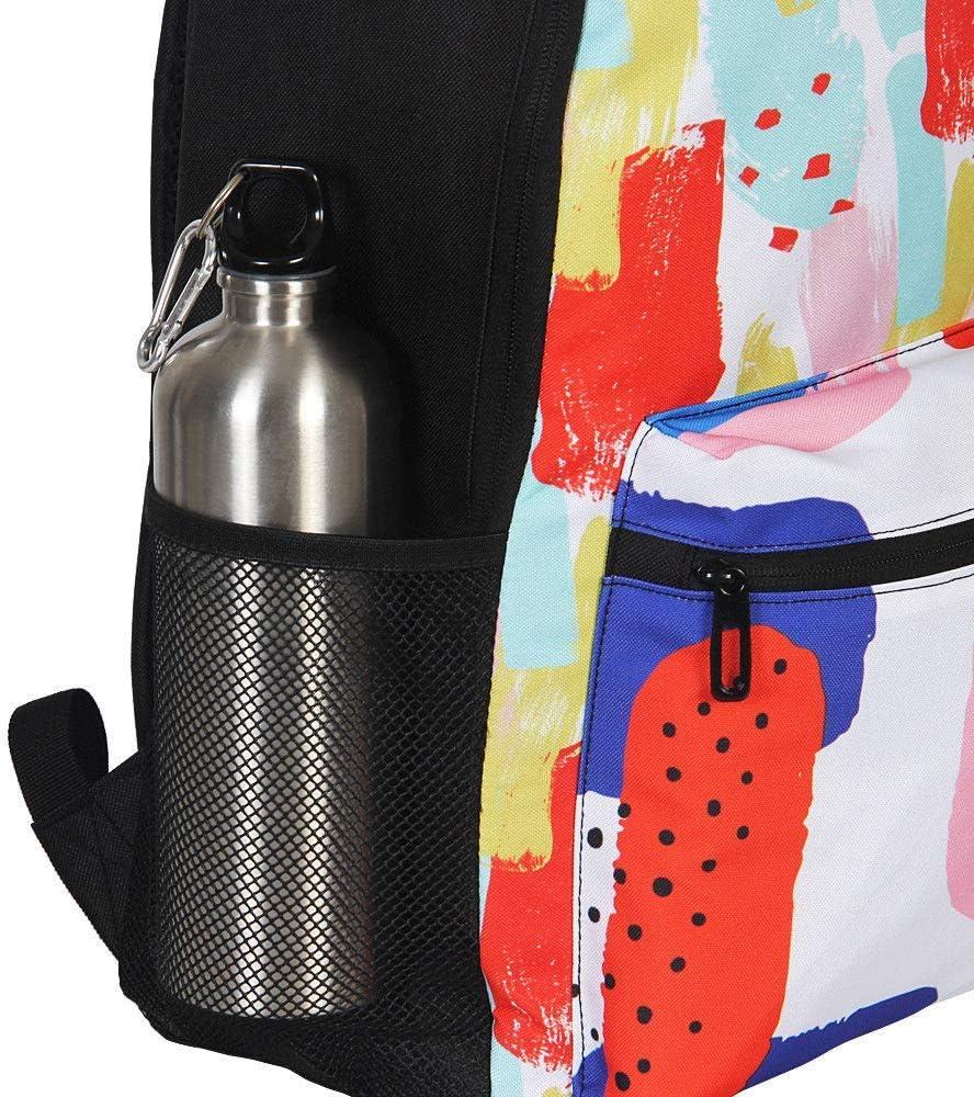 Delerain Colorful Sharks School Backpack Lightweight Travel Daypack Shoulder Bag 17 Inch Plus Laptop Bag Book bag for 1-6th Grade Teens Boys Girls