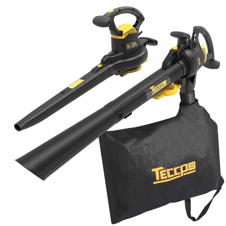 TECCPO 250MPH 12-Amp Powerful Corded Blower/Vacuum/Mulcher - TABV01G