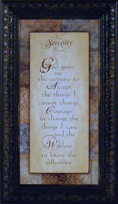serenity prayer by jo moulton 12x20 religious framed art print wall dcor picture