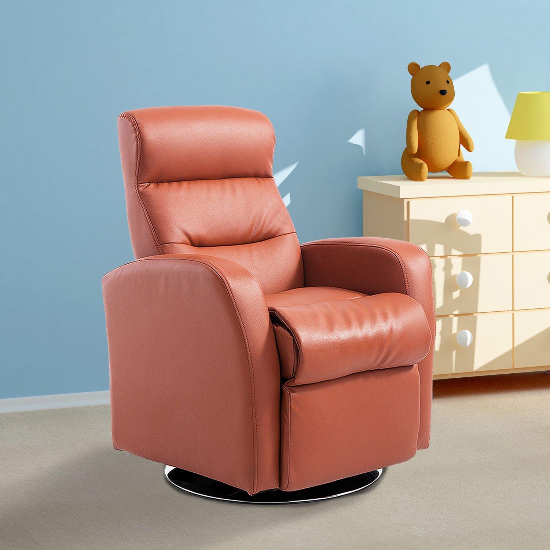 Generic NV_1008004437-QYUS484437 Seat Lounge ying Rec Sofa Armchair Brown Lying Brown Lying Recliner Armchai Children Children PU Leather ather Children