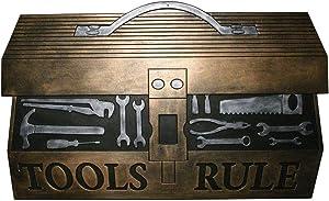 "Robert Allen MAT01572 Tool BoxDoor Mat, Man Cave Collection, 18"" X 30"", Black"