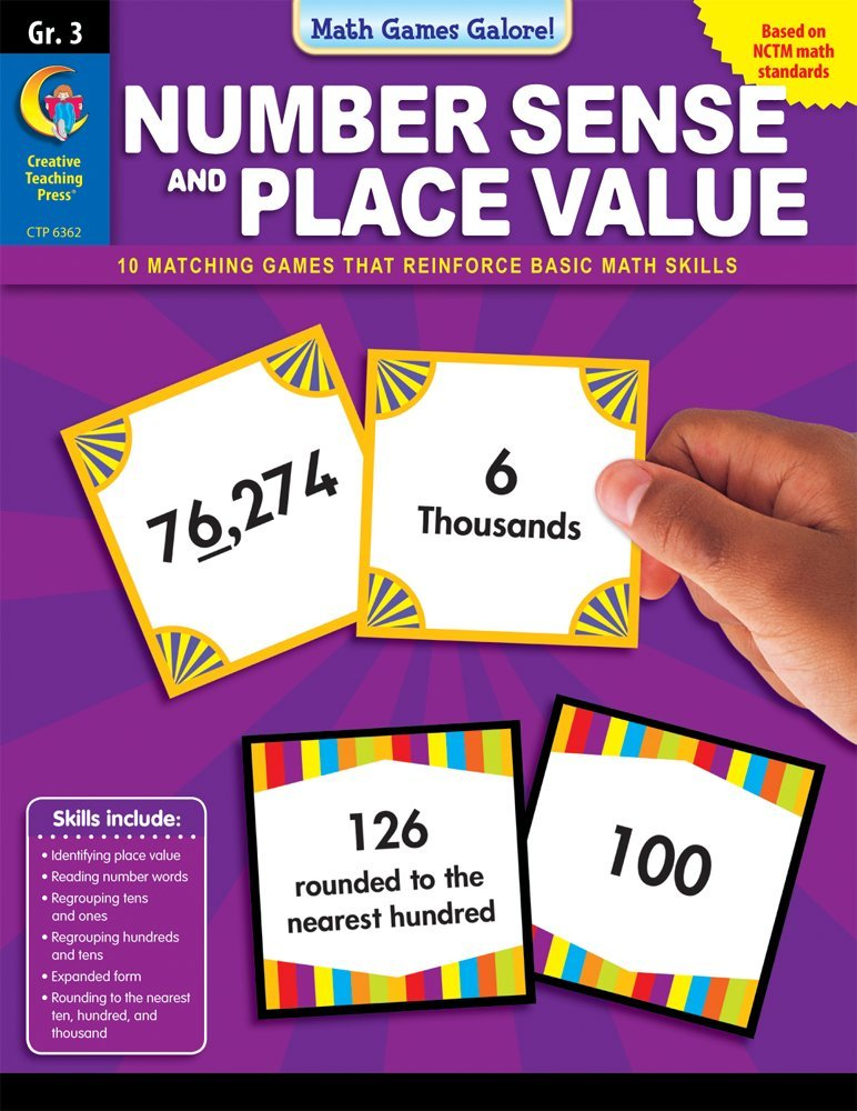 Download Number Sense & Place Value, Gr 3 - Math Games Galore pdf epub