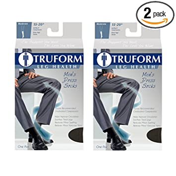 8108fc302 Image Unavailable. Image not available for. Color  Truform Men s Knee High  15-20 mmHg Compression Dress Socks ...