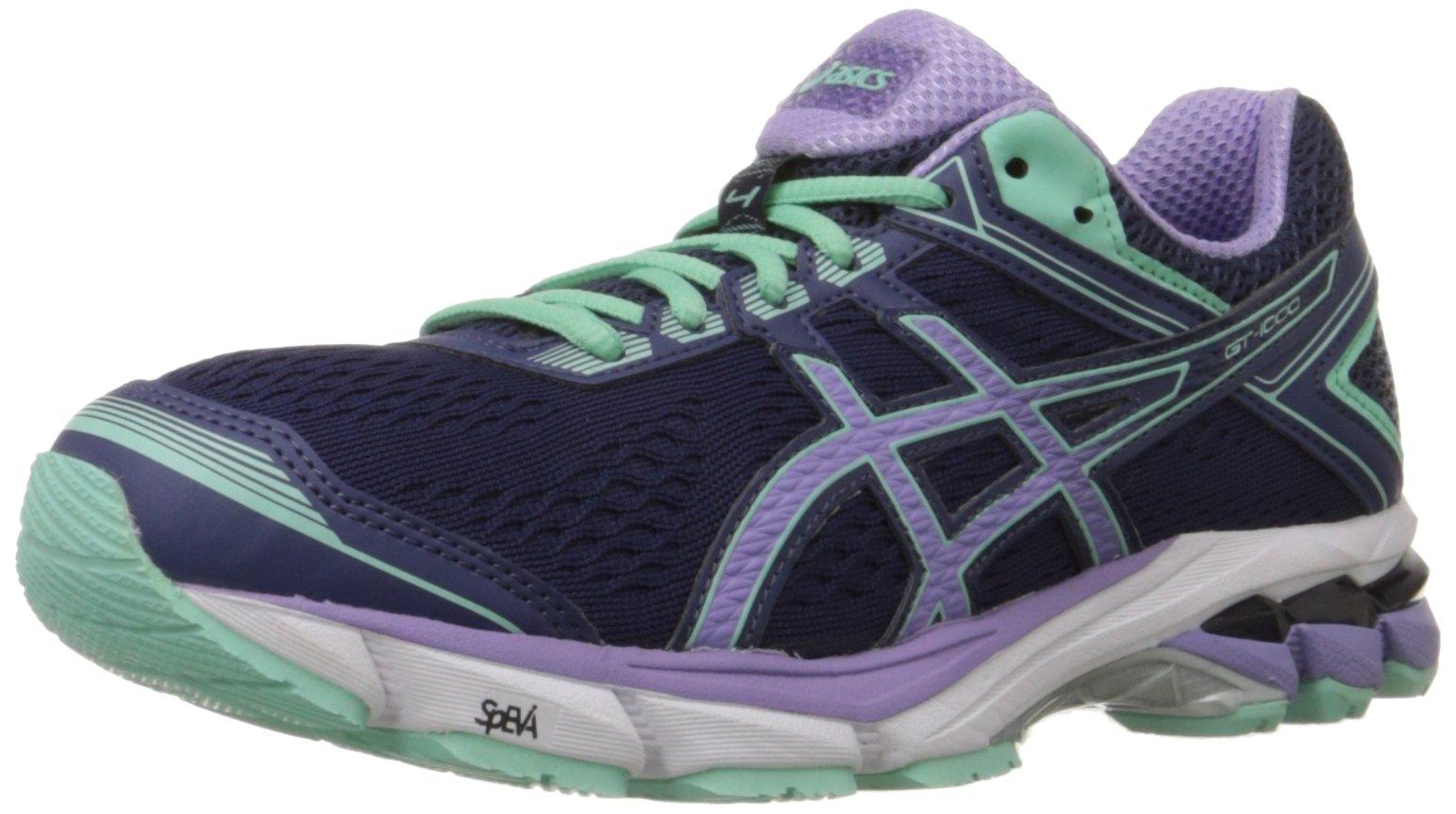 ASICS Women's Gt-1000 4 Running Shoe, Midnight/Violet/Beach Glass, 7.5 M US