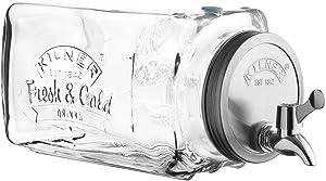 Kilner Glass Drinks Dispenser, 3-Liter Fridge-Friendly Compact Design for Everyday Use, Leakproof Easy-Pour Spigot