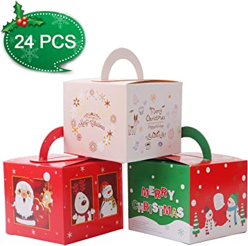 Pack of 10 Holly Card Party Gable Box