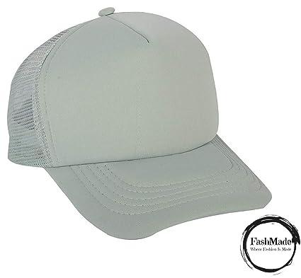 9a0130835fb FashMade Solid Grey Halfnet Cap for Men Boys   Women Girls  Amazon.in   Clothing   Accessories