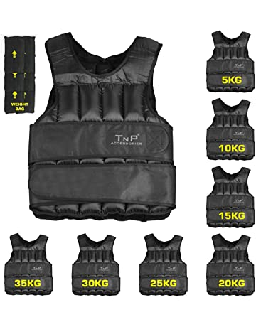 e5ae7c2786 Weight Vest - 5kg 10kg 15kg 20kg 25kg 30kg Adjustable Weighted Vest Weight
