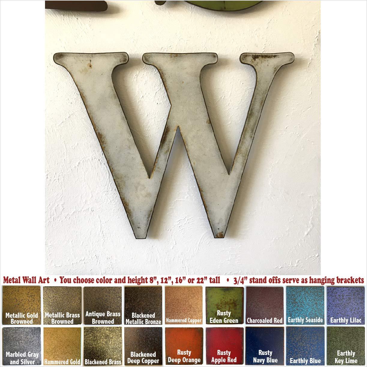 Metal Letter W - 8