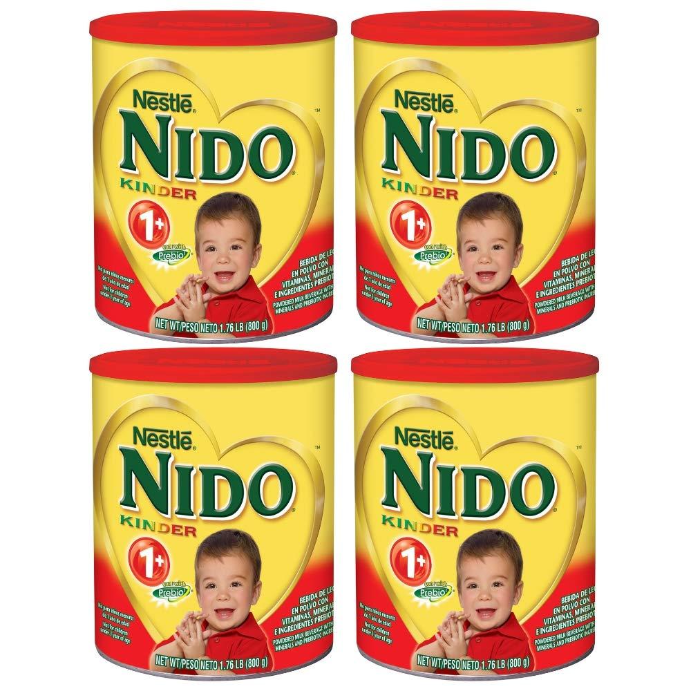 NESTLE NIDO Kinder 1+ Powdered Milk Beverage 1.76 lb. Canister (4 pack) by Nido (Image #1)
