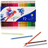 72 Pack Multi Colored Pencil Set, Premier Colored Pencils for School and College, Soft Core for Adult Coloring, Drawing Arts