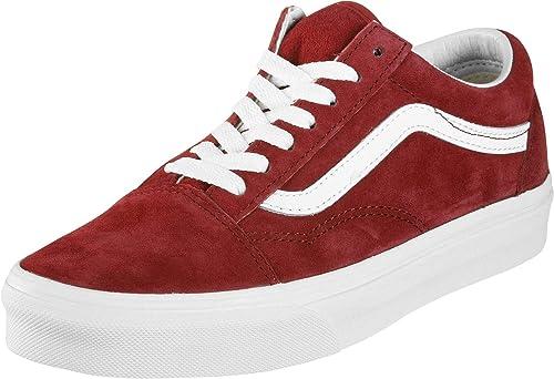 Zapatillas Vans - Old Skool (Pig Suede) Scooter Granate/Blanco Talla: 45: Amazon.es: Zapatos y complementos