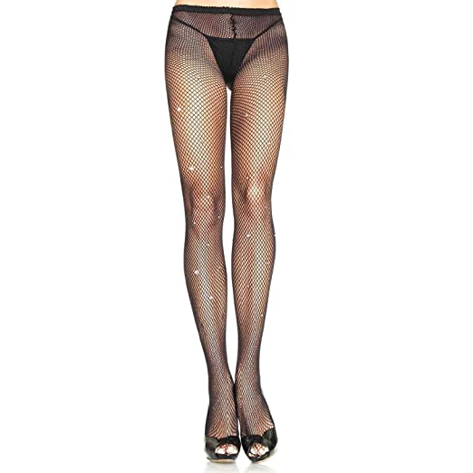 38c019fa34753 Amazon.com: Leg Avenue Womens Fishnet Tights with Rhinestone Detail ...