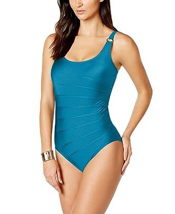 4a3da462989 Calvin Klein Women's Starburst One-Piece Swimsuit at Amazon Women's ...