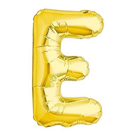 Globo gigante de helio con adhesivos letra E