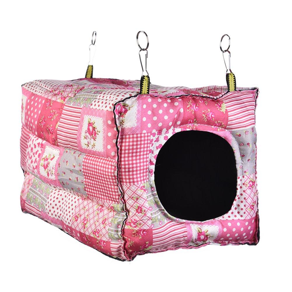 ... casa de algodón cálido tenda cama nido de hámster conejillo de Indias Galesaur chinchilla conejo pequeños animales: Amazon.es: Productos para mascotas