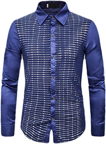 Jotebriyo Men Regular Fit Casual Business Long Sleeve Plaid Print Button Up Dress Work Shirt