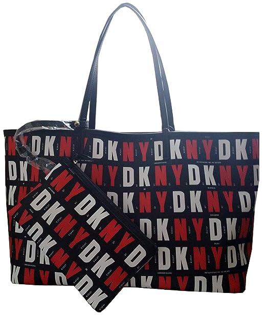 DKNY Donna Karan con revestimiento de Nueva York Logo Reversible Tote Shopper Bolso: Amazon.es: Zapatos y complementos