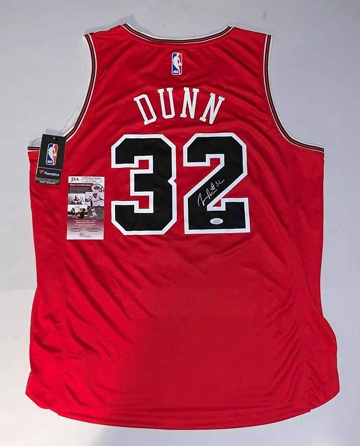 reputable site 29bd9 a54b9 Autographed Kris Dunn Jersey - Red Fanatics Branded Fast ...