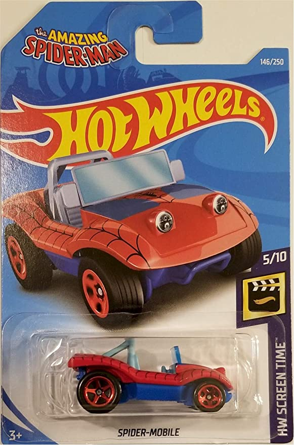 New Hot Wheels 2019 Spider-Mobile 146//250 HW Screen Time Short Card