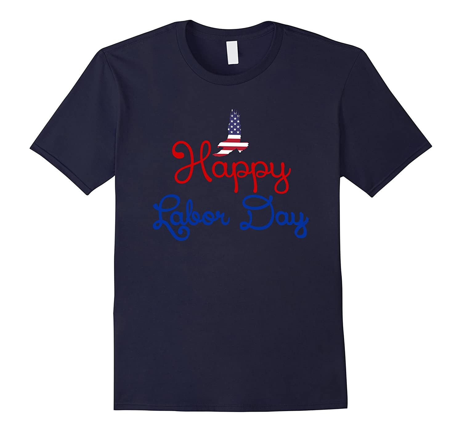 Happy Labor Day T shirt Holiday Gift American Flag Eagle Tee-BN