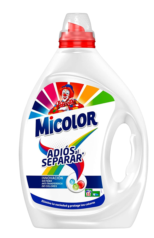 Micolor Detergente Líquido Adiós al Separar - 33 Lavados (1.65 L ...