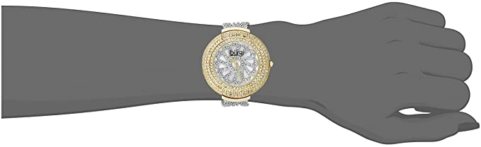 Amazon.com: Burgi Womens BUR051TTG Analog Display Japanese Quartz Silver Watch: Watches