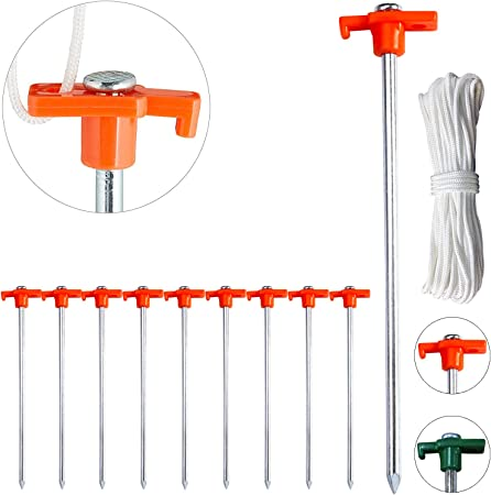 MARQUEE TENT PEGS SPIKES ANCHORS HEAVY DUTY GAZEBO GARDEN PARTY CAMPING