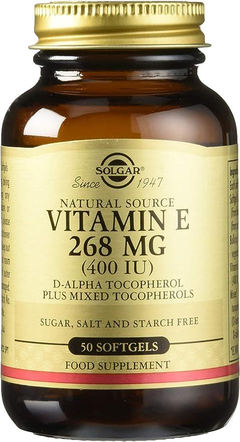 Solgar Vitamina E 268 mg (400 UI) Cápsulas blandas - Envase de 50 ...
