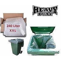 Strong Heavy Duty Clear Wheelie Bin Liners Rubbish Sack Big Refuse Bin Bags