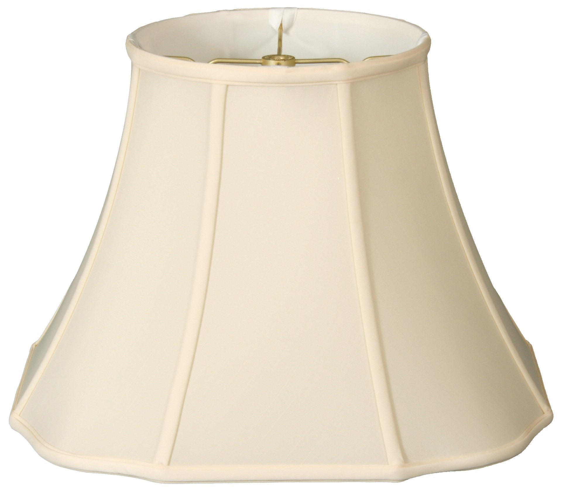 Royal Designs Flare Bottom Outside Corner Scallop Basic Lamp Shade - Eggshell - 9 x 16 x 12