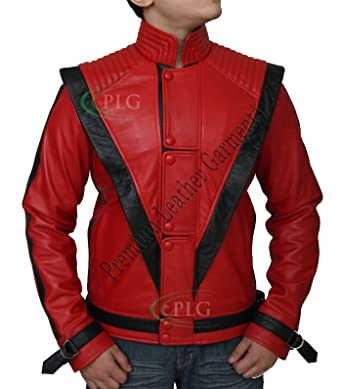 clearance prices fashion good service Michael Jackson Thriller Red Leather Jacket - Real Leather ►BEST SELLER◄