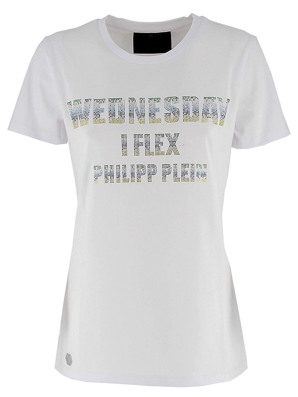 f1716664e50 Philipp Plein Women's S19CWTK1258PJY002N01 White Cotton T-Shirt at ...