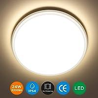 Tomons Lámpara de Techo LED, 24W 2200lm, Impermeable