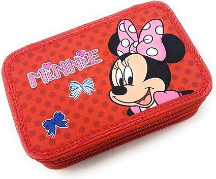 Minnie Mouse Deluxe estuche 3 cremallera 18: Amazon.es: Oficina y papelería